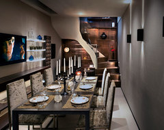 Boutique Mews House, London contemporary-dining-room
