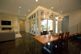 Contemporary dining room design by austin architect for Midcoast home designs