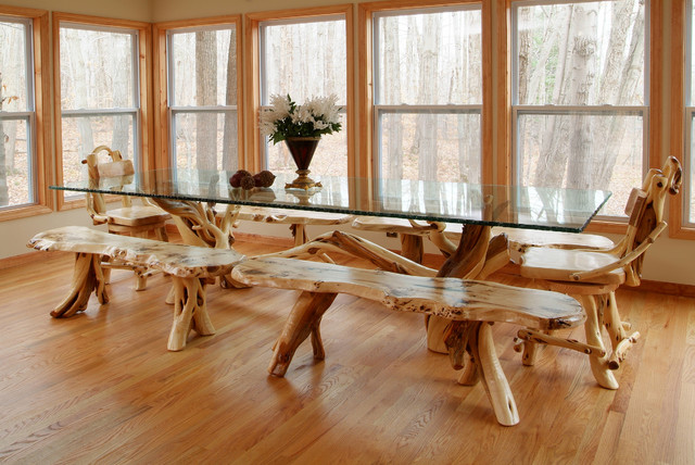 Branch Dining Table - Rustic - Dining Room - Other - by Woodland ...