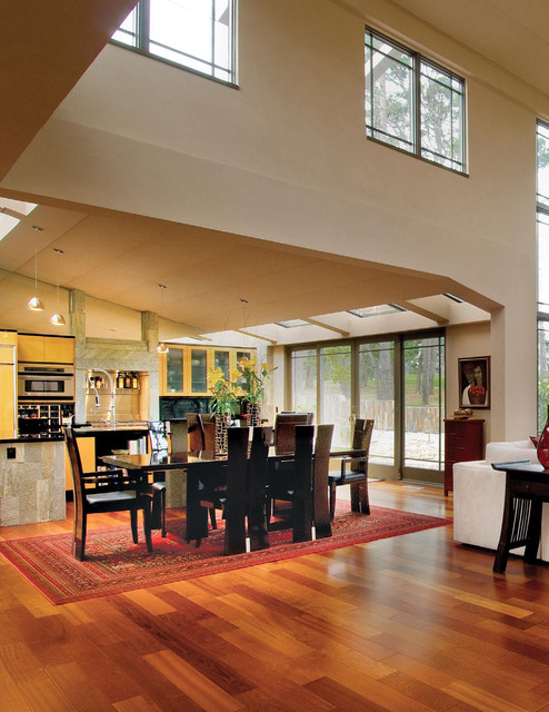Brazilian cherry flooring pebble beach ca contemporary dining room san francisco by - Dining rooms direct ...