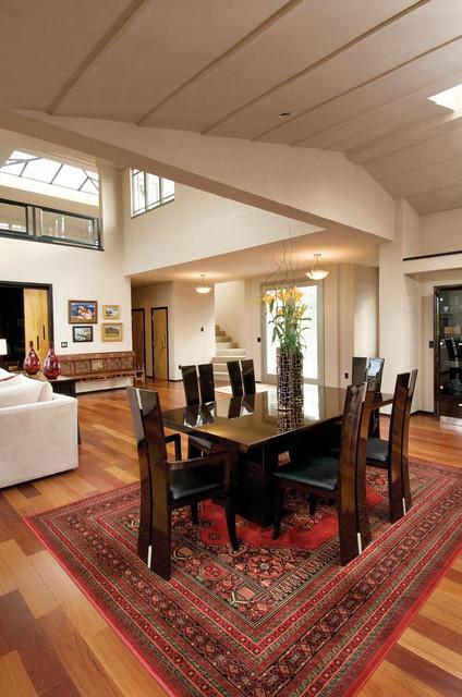 Brazilian Cherry Flooring - Pebble Beach, CA contemporary-dining-room