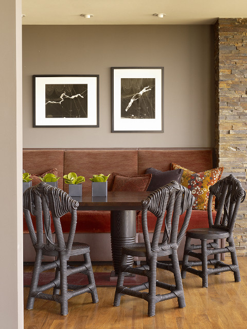 Banquettes Make For Cozy Dining