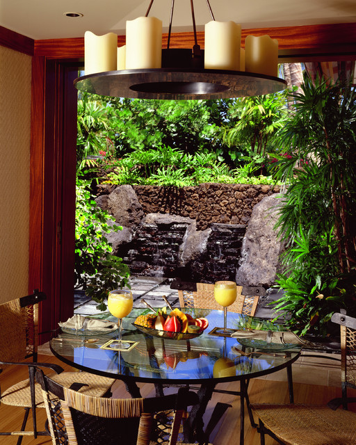 breakfast garden tropical dining room hawaii by
