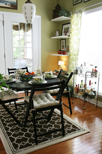 Breakfast nook eclectic dining room