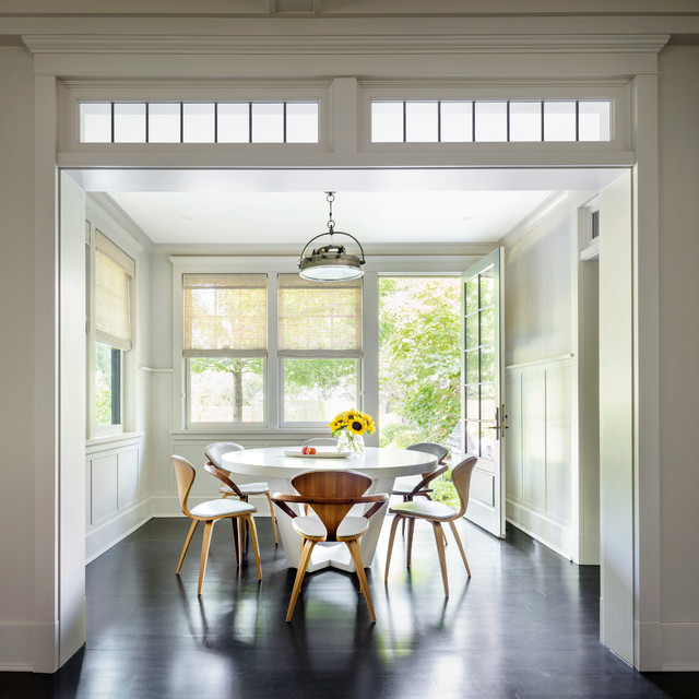 Gambrel Shingle Style Transitional Dining Room New