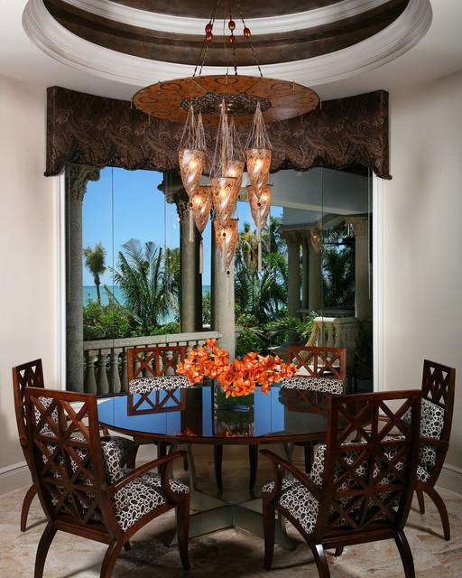Mediterranean Dining Room: Beachfront Luxury