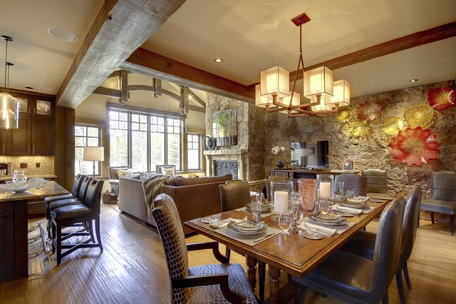 Breckenridge Residence contemporary dining room