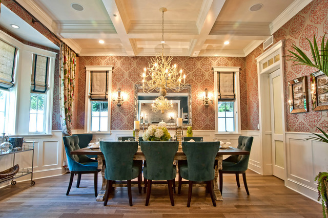 Houzz Wallpaper Dining Room: Breezy Brentwood