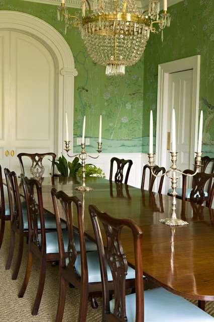 Brentwood regency estate traditional dining room los for Regency dining room
