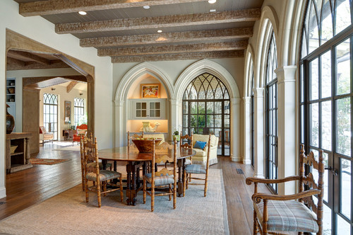Arched windows are custom made
