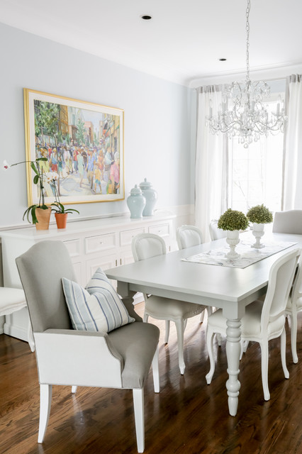 Bright And Airy Traditional Dining Room Montreal