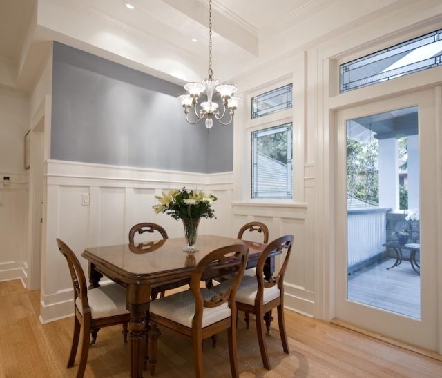 Bright and White traditional dining room