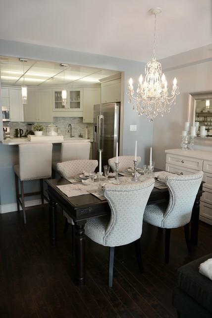 Bright White Condo contemporary-dining-room