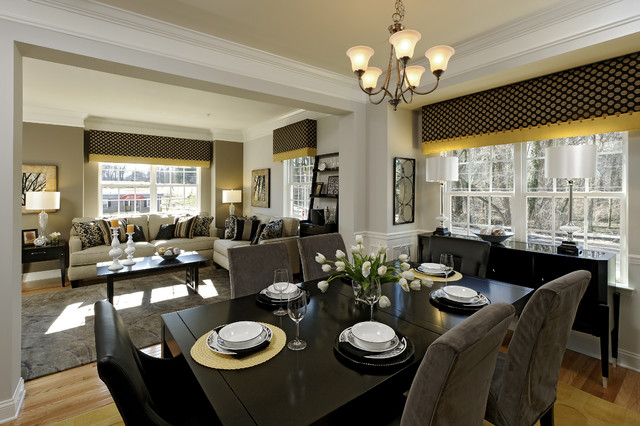 Brighton Place Jefferson And Chandler Models Contemporary Dining Room Dc Metro By