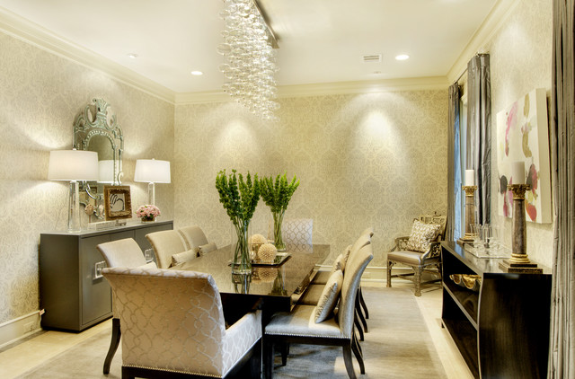 Houzz Wallpaper Dining Room: Brito Dining Room