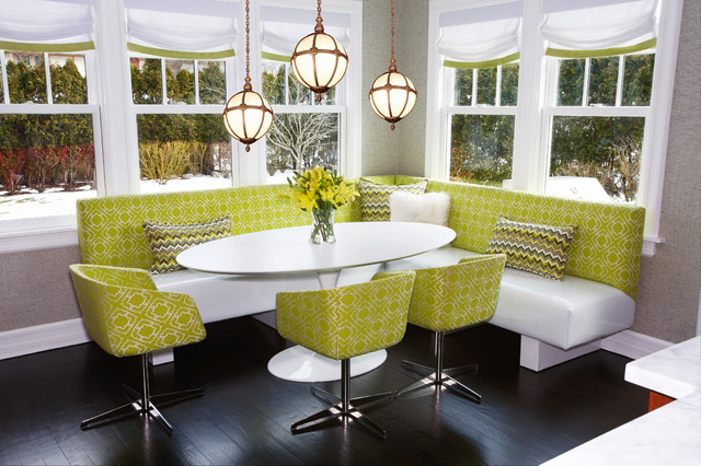 Bronxville residence contemporary dining room new for Beckerman kitchen cabinets