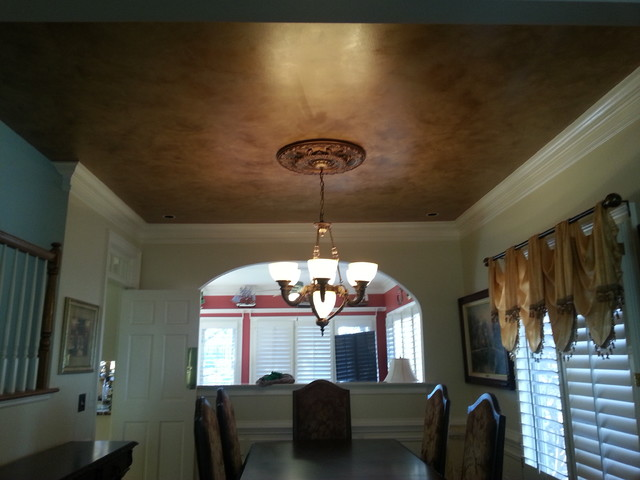 bronze ceiling traditional-dining-room