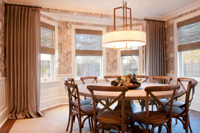 brookline private residence transitional dining room - Private Dining Room Boston