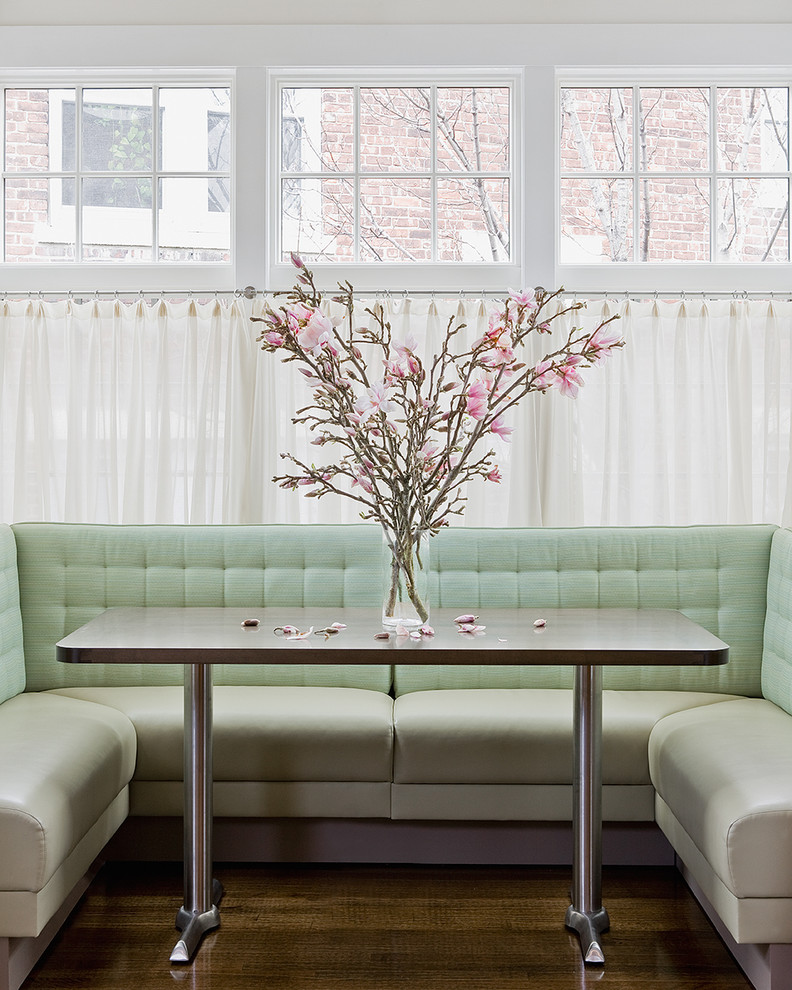 Dining room - contemporary dining room idea in Boston