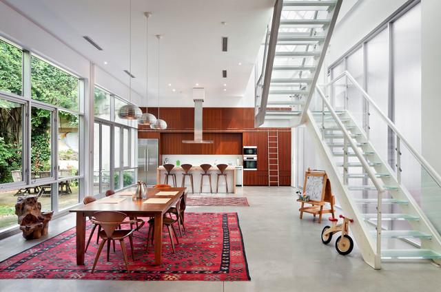 Brooklyn Artist Loft Modern Dining Room