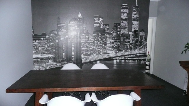 Brooklyn Bridge Wall Mural Modern Dining Room