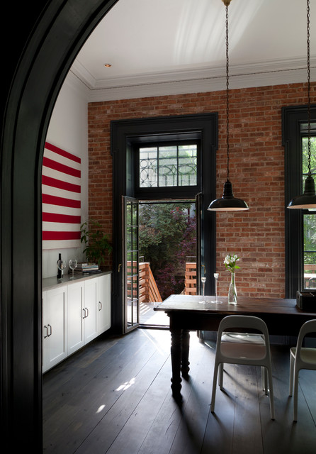 Brooklyn Heights Townhouse Industrial Dining Room