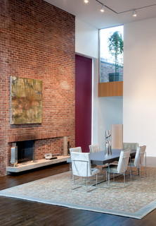 Broome st loft soho new york contemporain salle Salle a manger new york