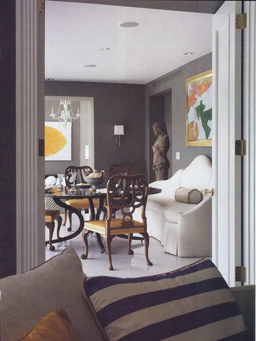 My new favourite dark grey maria killam the true for Dining room grey walls