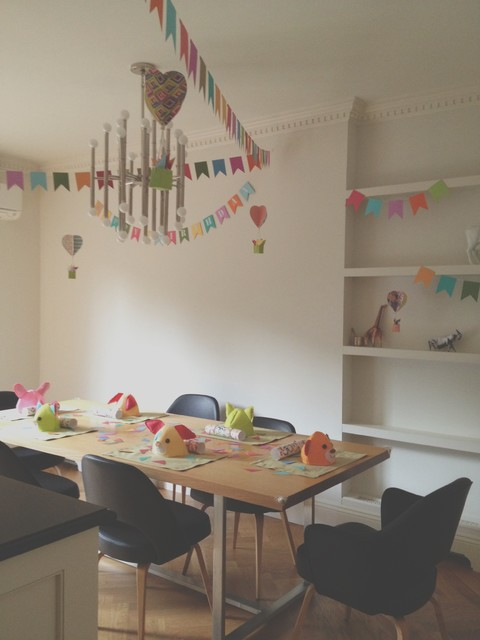 Brownstone - kids' party eclectic-dining-room