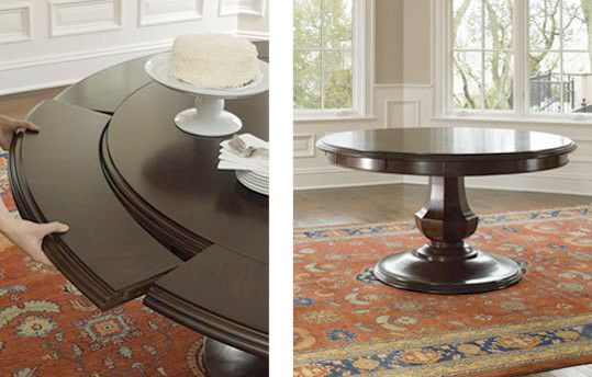 Browstone Sienna Round Dining Table Traditional Dining Room
