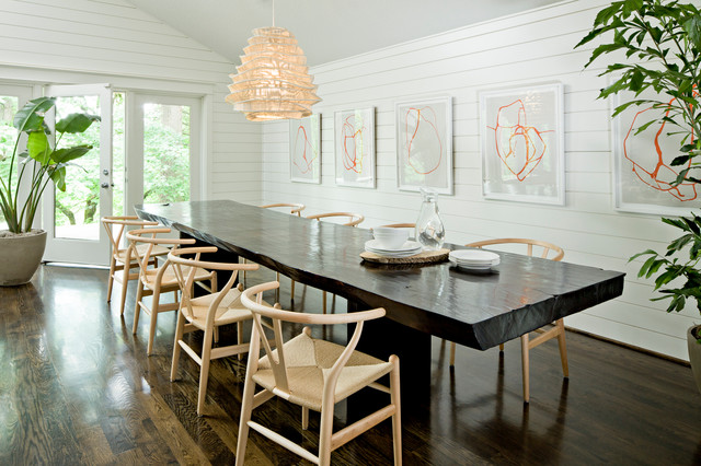 Brush prairie house contemporary dining room for Contemporary dining room art