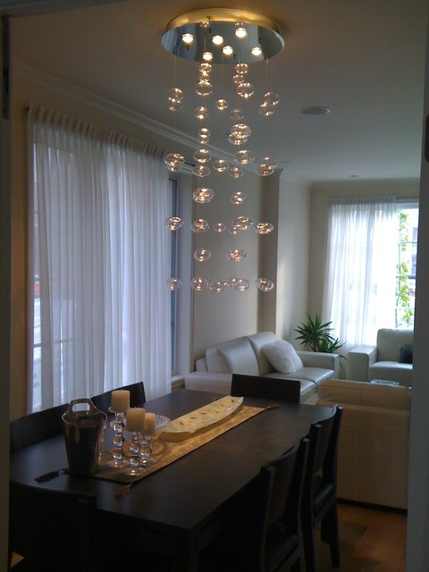 Bubble Chandelier Handblown Glass Contemporary Dining Room