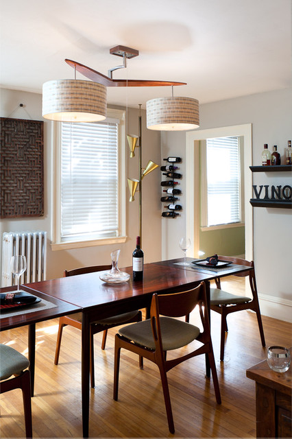 eclectic dining room by Inspired Wire Studio