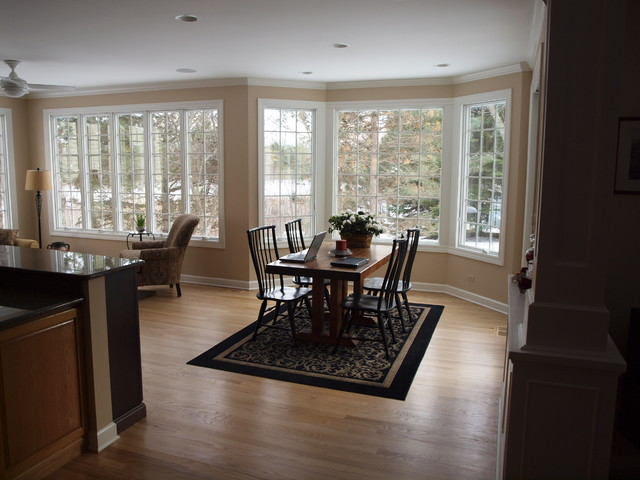 budget conscious sunroom addition traditional dining room - Sunroom Dining Room