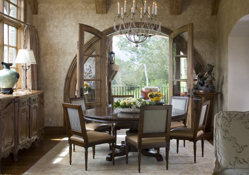 Round Dining Room Sets For 8 how much room do i need for an 8 seat round table?