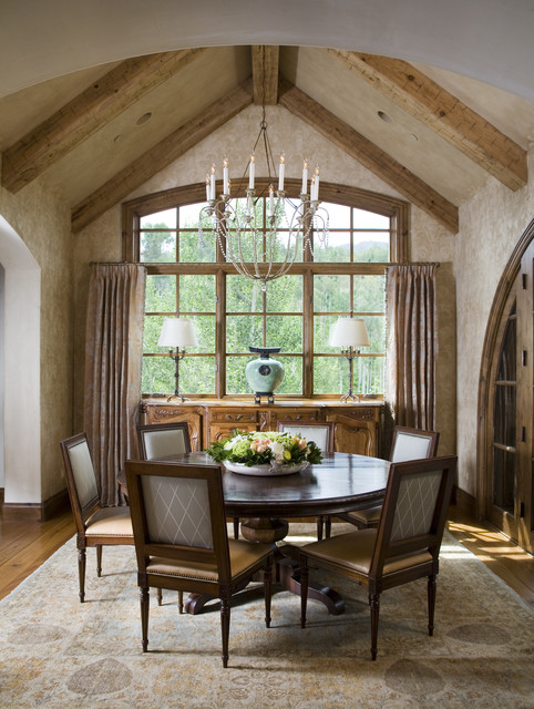 Buffehr Creek Residence Rustic Dining Room Other Metro By Slifer Designs