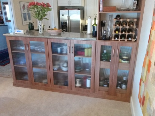Buffet with plate storagewine and liquor storage Modern