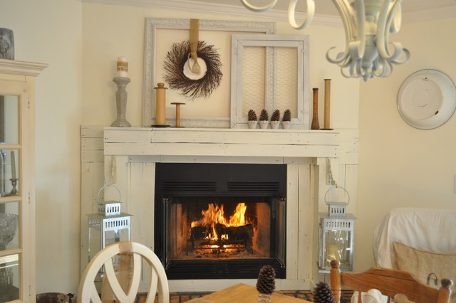 Building a Mantel eclectic-dining-room