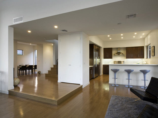 Built by McCausland Construction contemporary-dining-room