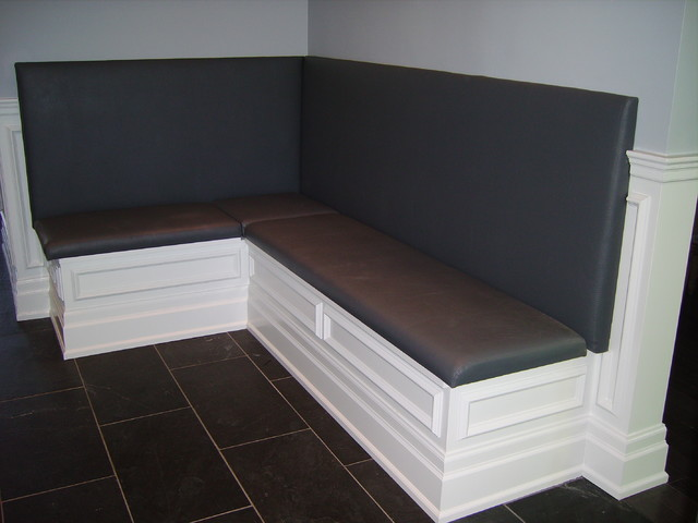 Built In Banquette Contemporary Dining Room Toronto
