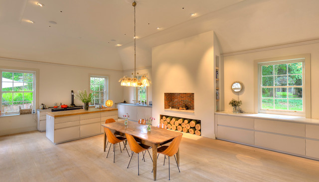 Bulthaup B3 Kitchen With Aga Oven Modern Dining Room