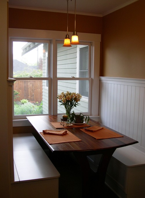 built in kitchen table and seating - Built In Kitchen Table