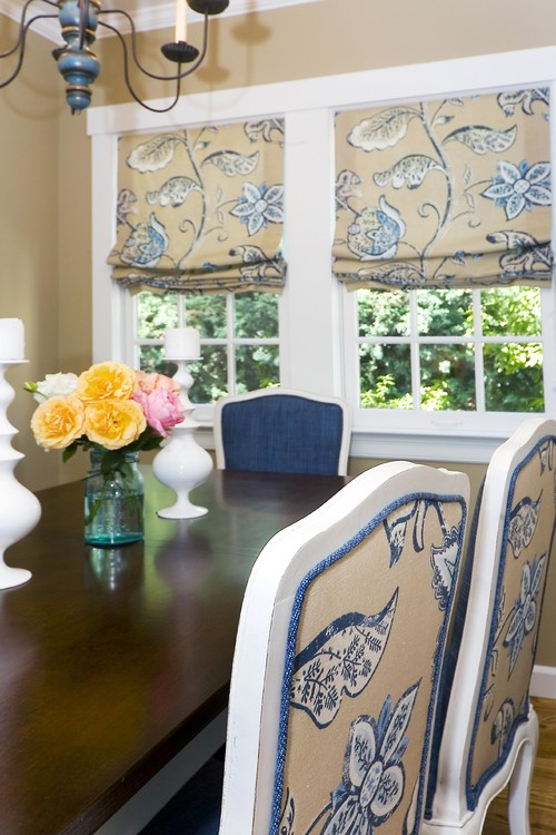 There Are Two Styles Of Roman Shades: Inside Mount And Outside Mount. These  Beautiful Photos Show An Example Of Each. Traditional Dining Room ...
