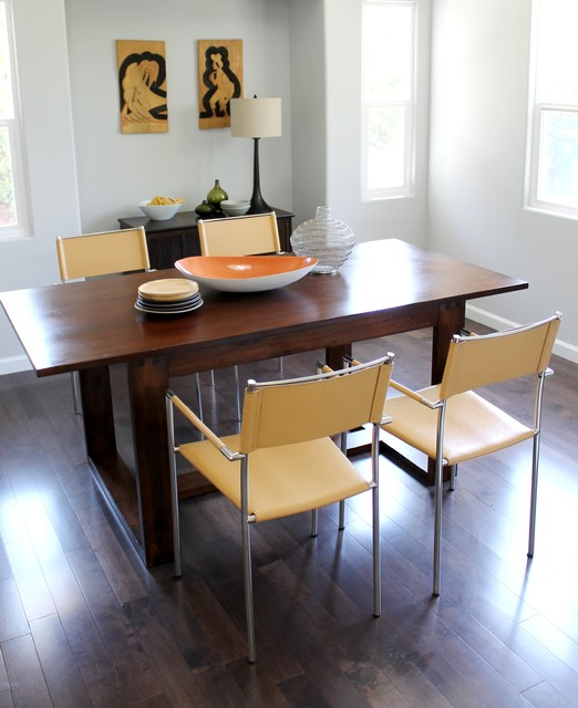 Butterscotch Leather Dining Chairs