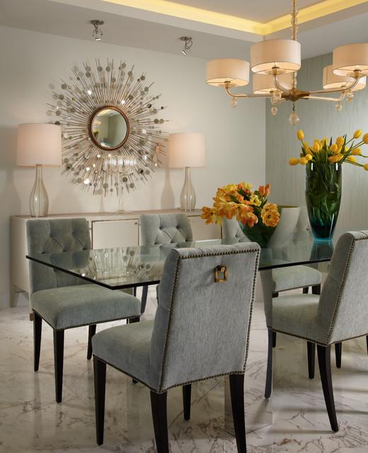 Modern Traditional Dining Room: Miami Interior Designer