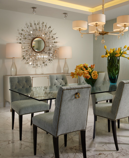 Dining Room Contemporary Brilliant By J Design Group  Dining Room  Miami Interior Designer Review