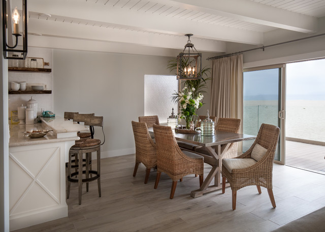 california beach cottage - beach style - dining room - los angeles