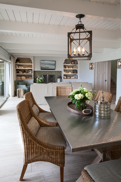 california beach cottage beach style dining room los angeles