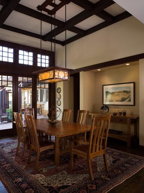 california contemporary craftsman craftsman dining room san