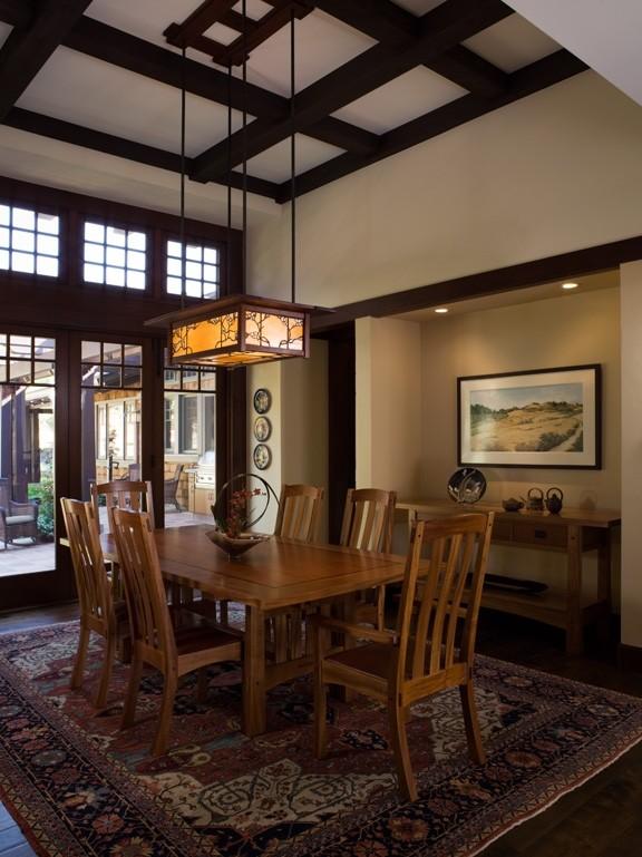 California Contemporary Craftsman, Craftsman Lighting Dining Room Chandelier